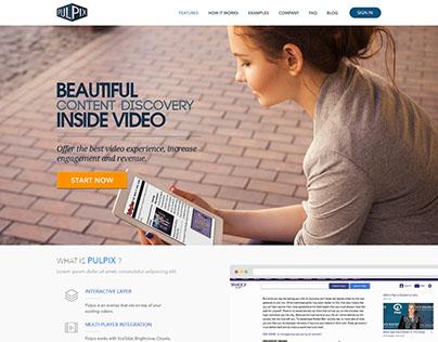 Pulpix Landing Page