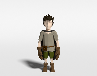 Sórtia - Character design in low poly