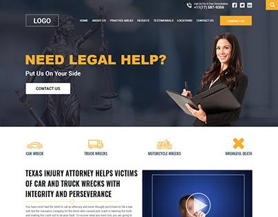 lawyer Website Mockup Design