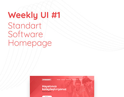 Weekly UI #1 - Standart Software Homepage Design