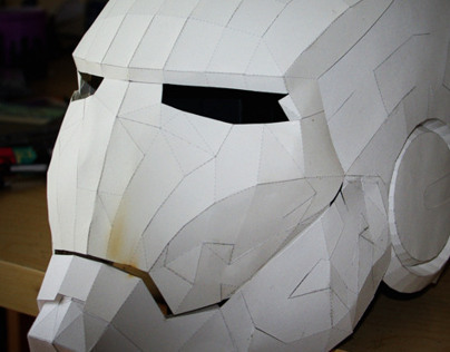 Papercraft Iron Man helmet - (WIP)