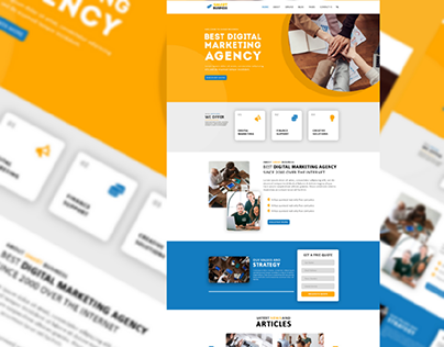 Smart Business Landing Page UI Design