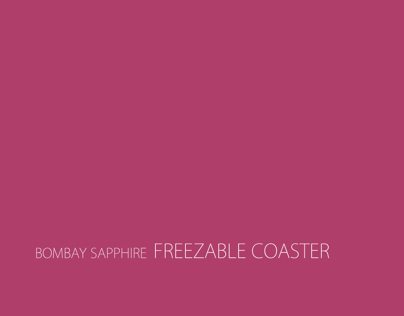 Bombay Sapphire Freezable Coaster