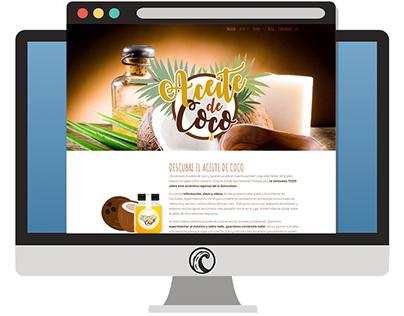 Diseño Web Aceite de coco