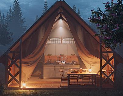 Glamping tent - Atmospheric lightings