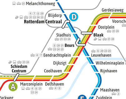 Rotterdam/Den Haag - metro and trains