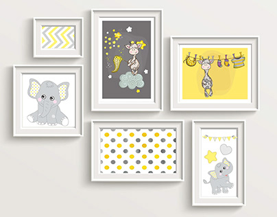 Illustrations for Baby's room