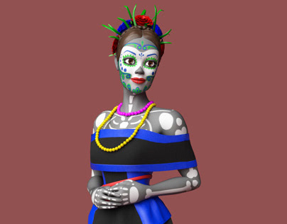 Day of the Dead Character 3D