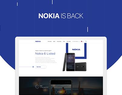 Nokia 6 Landing Page