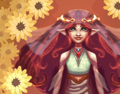 Ilustração - Elfa da Primavera