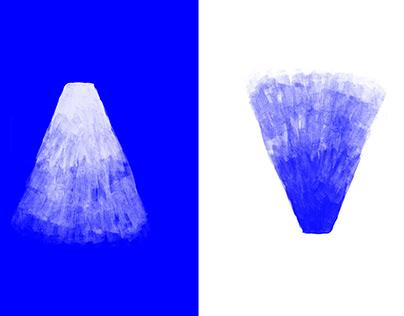 Bleu/blanc (sérigraphie)