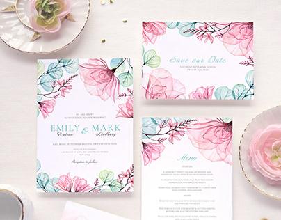 Rose Harmony - Wedding invitation suite for Prantl AG