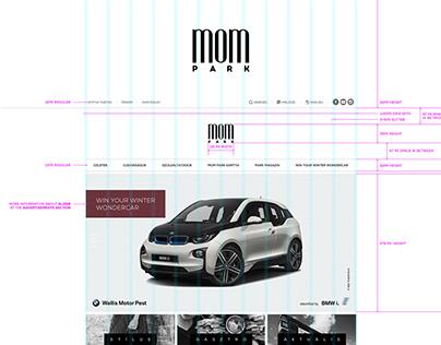 Full website redesign for MOM Park shopping center