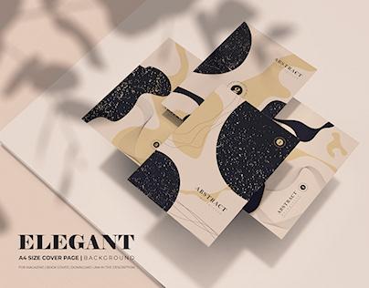 A4 Size Book Cover | Elegant Trendy Background Design