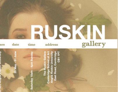 Ruskin Gallery - Poster design