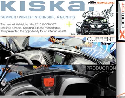 2013 KTM X-Bow Windshield Frame and Damper Brakets