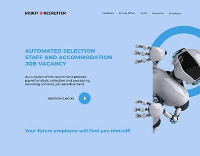 Landing page Automatic Personnel Recruitment