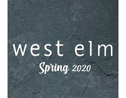 West elm Spring 2020 collection