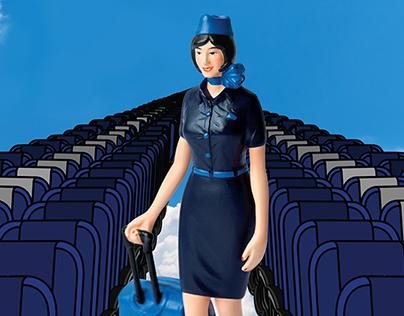 Motion Art-Indigo airline's inflight mag azine: Hello6E