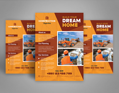 Construction flyer design