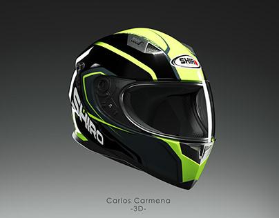 Shiro SH-881. Motorcycle helmet.