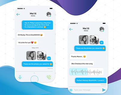 Message Chatbox/ChatScreen UI design