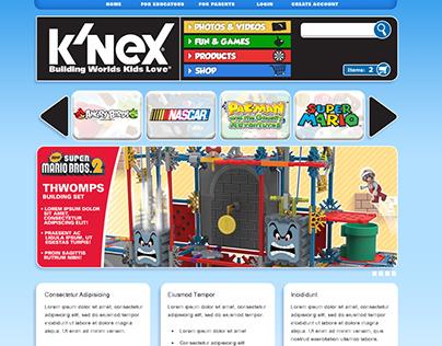 K'NEX Web page designs