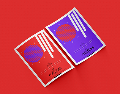 A3 Curved Paper Posters Mockup Free