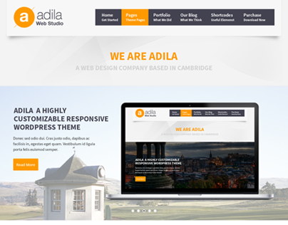 Adila: Multipurpose Business PSD Theme
