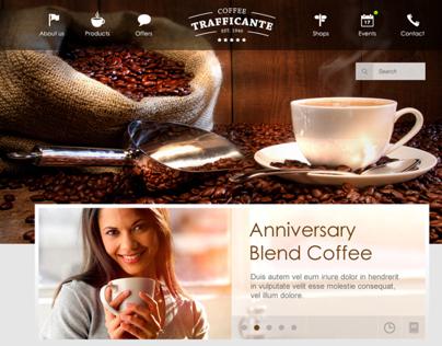 Coffeeshop Website Concept