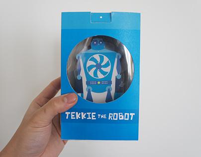 'Tekkie the Robot' - Character & Packaging Design