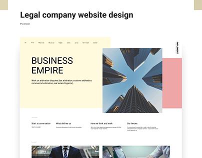 Legal (law) company website design