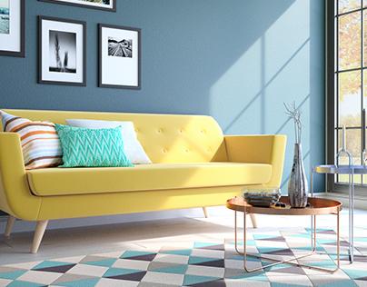 Sixties style sofa