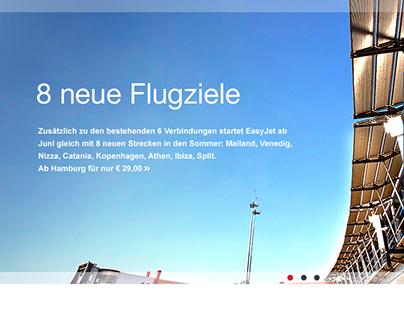 Hamburg Airport - Responsive Website