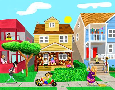 """Frogtown"" Contest Winning Illustration"