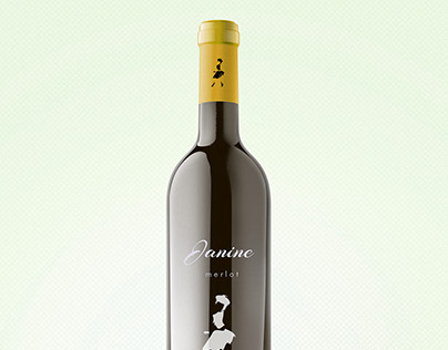 Janine, wine bottle Design