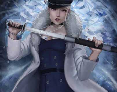 Ice Queen Pin Up