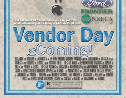 Office Vendor Day Program Poster