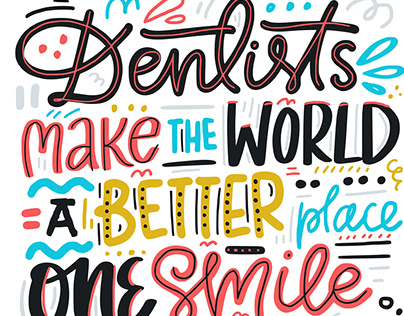 Dental Quotes Lettering Collection