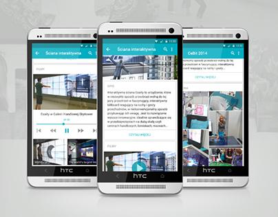 Exaity //Concept Material Design Mobile App