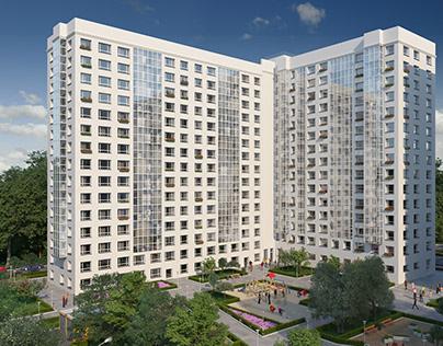 """3D Визуализация жилого комплекса """"Белые ночи""""."""