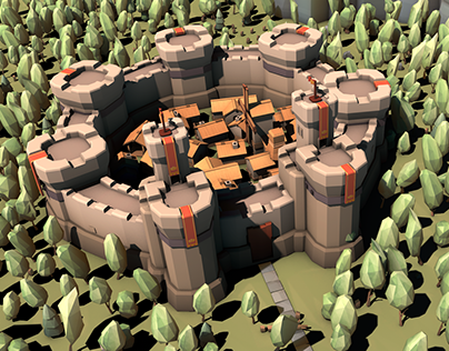 Low Poly Medieval Constructor