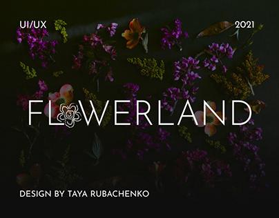 "UI/UX Web Design Flower Studio ""FLOWERLAND"""