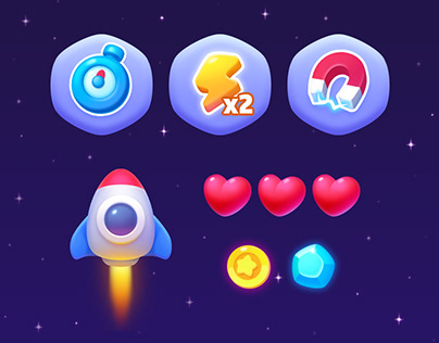 Space Game UI