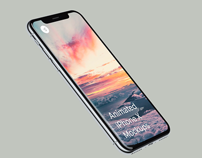 Animated iPhone X Mockups for Photoshop and AE