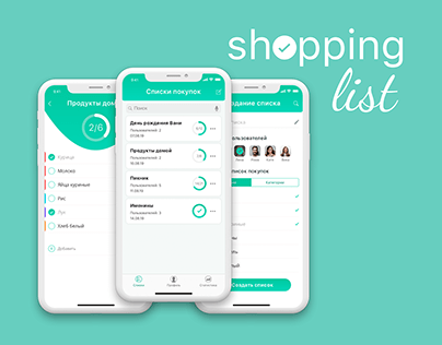 Mobile app Shopping list
