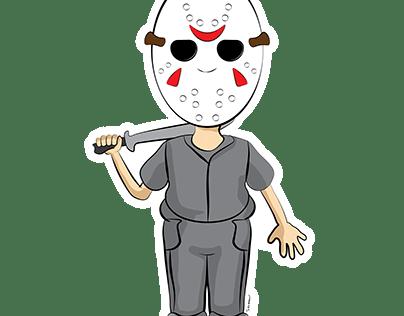 Jason Friday The 13th Drawing and Shirt