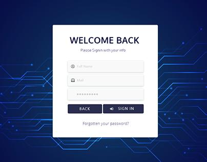 Dashboard ׀ UI Design ׀ Sign in