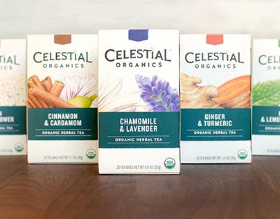 Celestial Seasonings Organic Herbal Tea Packaging