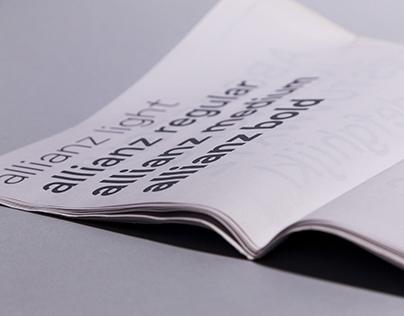 Allianz typeface